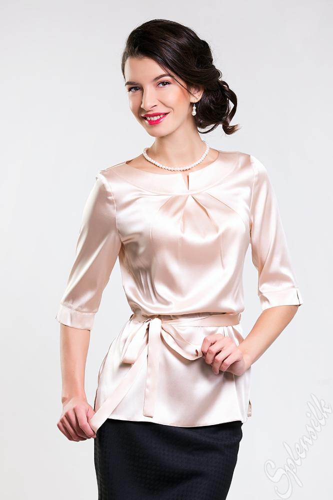 Элегантная Блузка Из Натурального Шелка