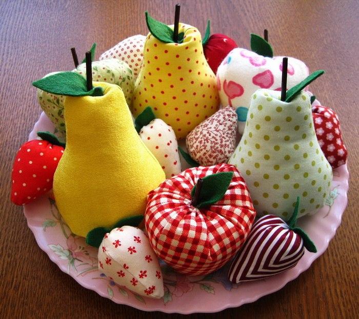 фрукты в стиле тильда