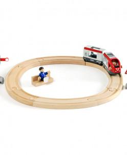Железная дорога со светофором, 15 элементов BRIO (БРИО)