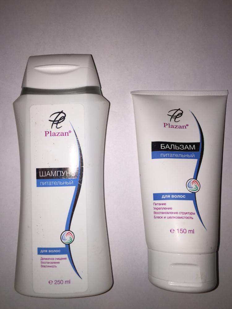 Набор для волос Питательный шампунь+бальзам Plazan